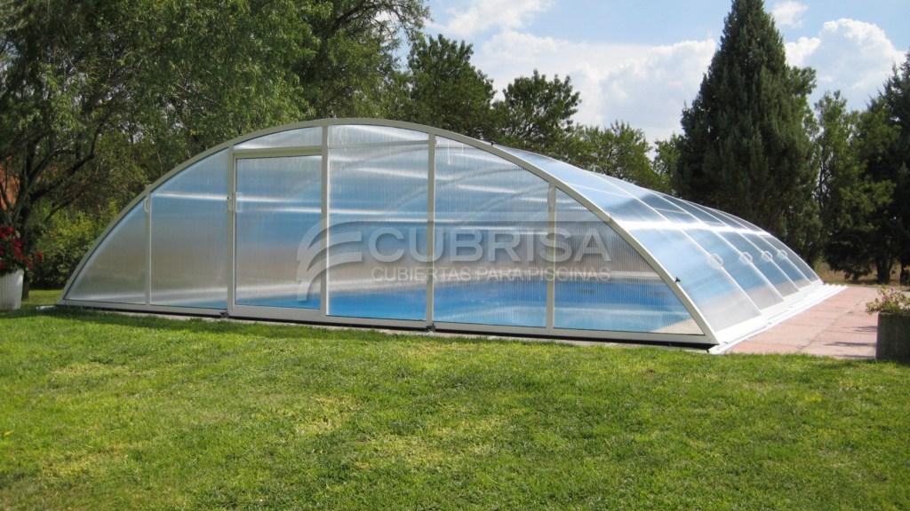 Modelo elipse telesc pica cubiertas para piscinas cubrisa for Modelos de casas de campo con piscina