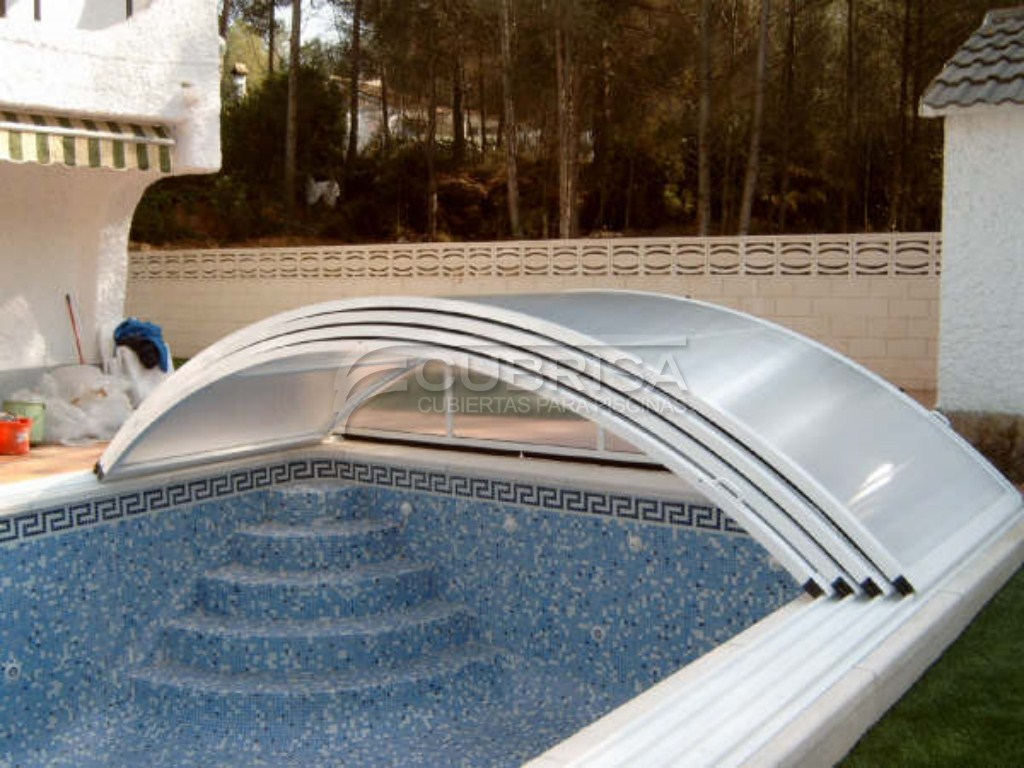 Modelo elipse telesc pica cubiertas para piscinas cubrisa for Modelos de techos para galerias