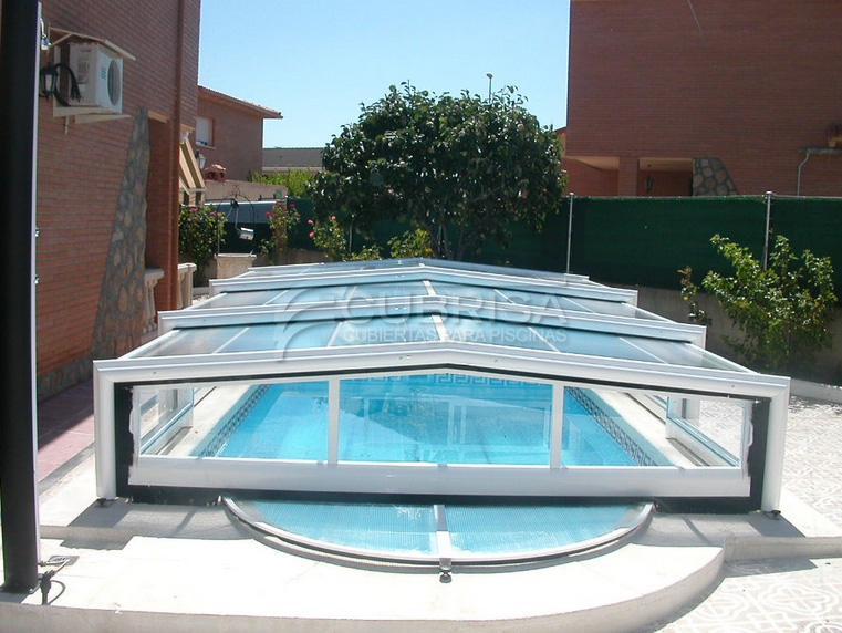piscina cubierta telescopica